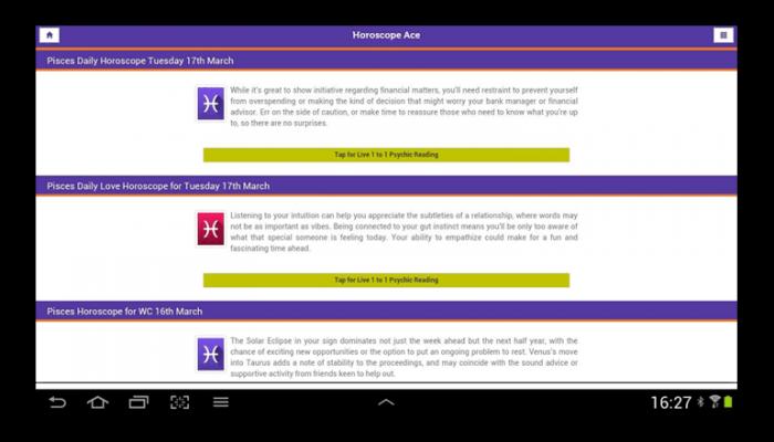 Horoscopes and Tarot for Android | Horoscope Ace